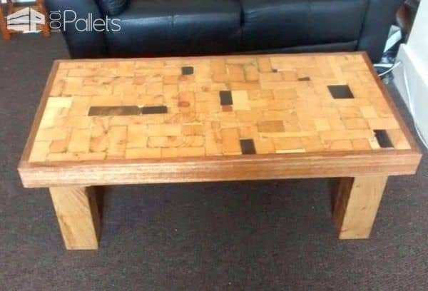 "I used 4x4"" oak posts to create sturdy legs to support an End-grain Coffee Table."