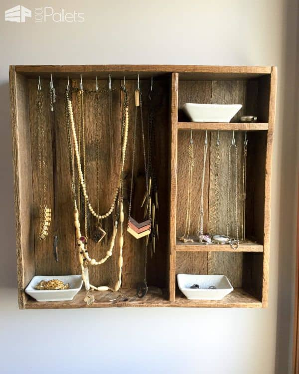 This Pallet Wood Jewelry Box is a great project because it's easily adjustable to your needs.