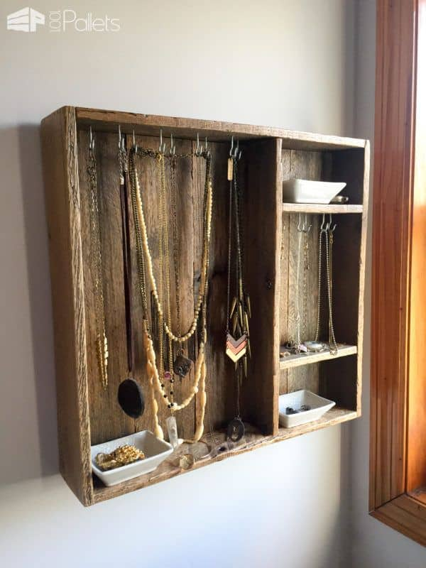 Use finer grit grades to preserve the rustic look on the Pallet Wood Jewelry Box.