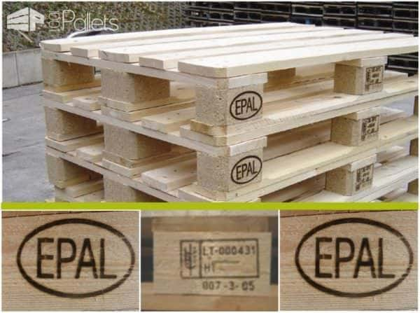 Heat Treated Pallets in Europe also have the HT stamp.