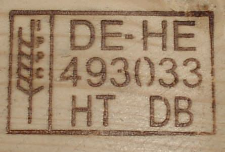 Another Heat Treated Pallets stamp example.