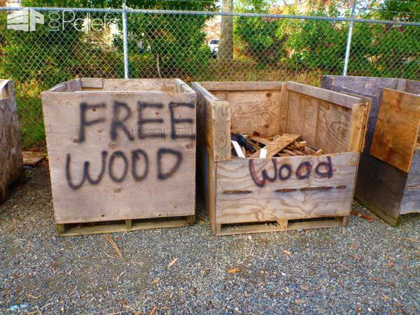 Get free wood from lumber mills.