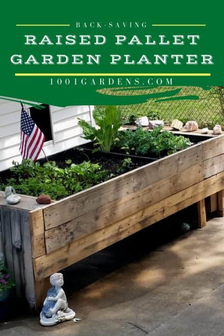 wifes raised pallet wood garden planter - Garden Ideas With Pallets