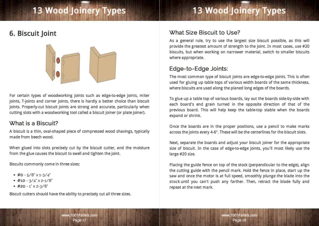 13 Wood Joinery Types Guide Free Pdf Tutorials 1001
