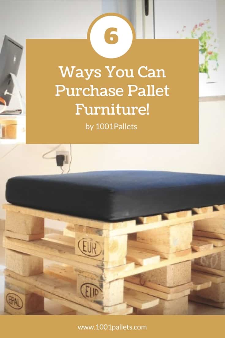 Rustic, country, industrial, modern: Pallets can become all of those things but you can't build furniture. Find 6 sources where you can BUY Pallet Furniture locally and save money! Get the look you want and avoid the splinters. #pallet #furniture #woodworking #marketplace