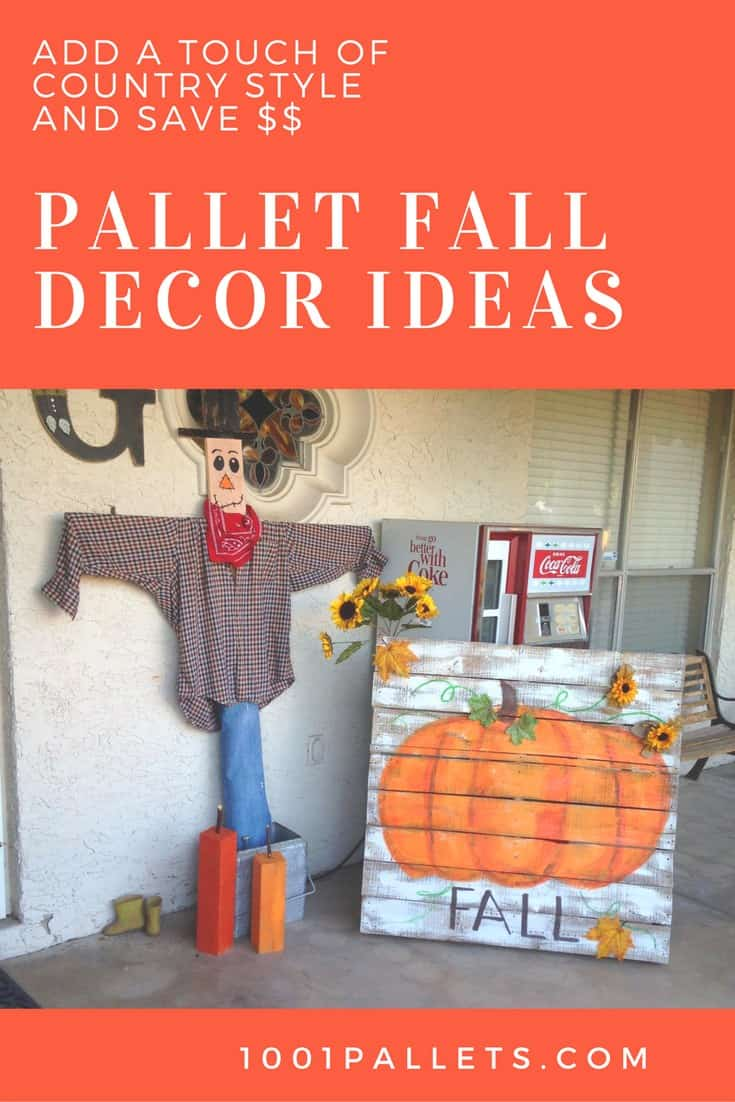 Assorted Pallet Fall Decor Ideas Add Rustic Charm Pallet Wall Decor & Pallet Painting