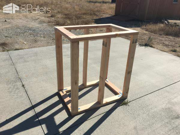 Framing out the Pallet Kindling Box.