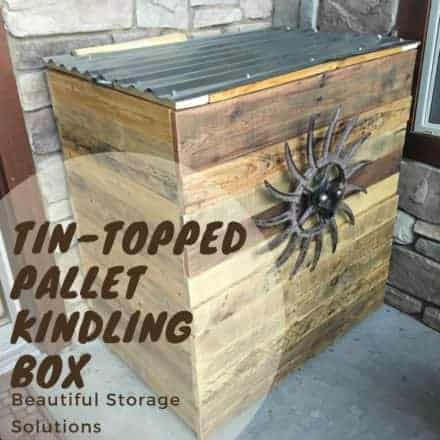 Tin-topped Pallet Kindling Box