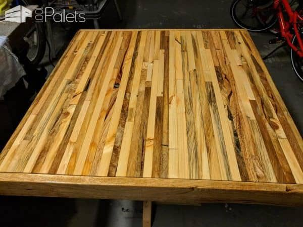I Finished The Pallet Bistro Table With Tung Oil.