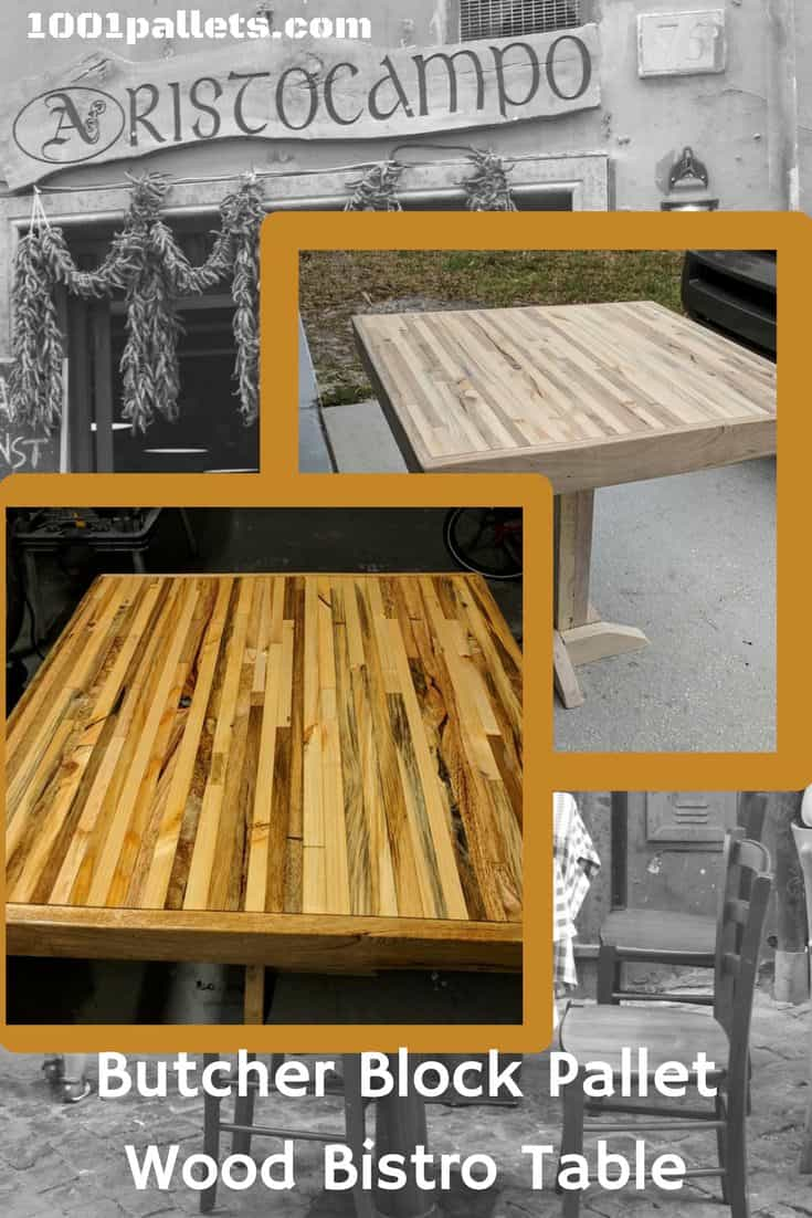 Butcher Block Two Pallet Bistro Table 1001 Pallets