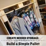 Create More Storage With This Pallet Wardrobe! Pallet Cabinets & Wardrobes