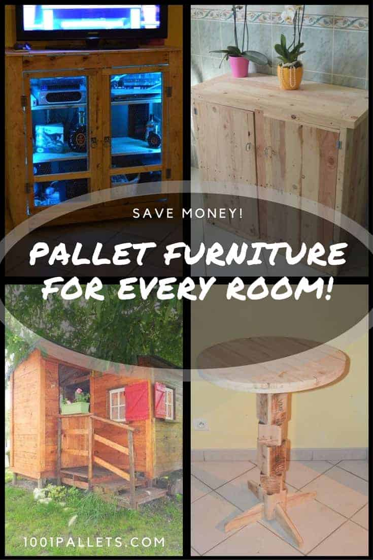 We heard you like $$ - so save more by making your own Pallet Furniture for every room of the home, including your outdoor living spaces. Make sofas, cabinets, home decor, and even amazing garden sheds. #diypalletprojects #makeityourself