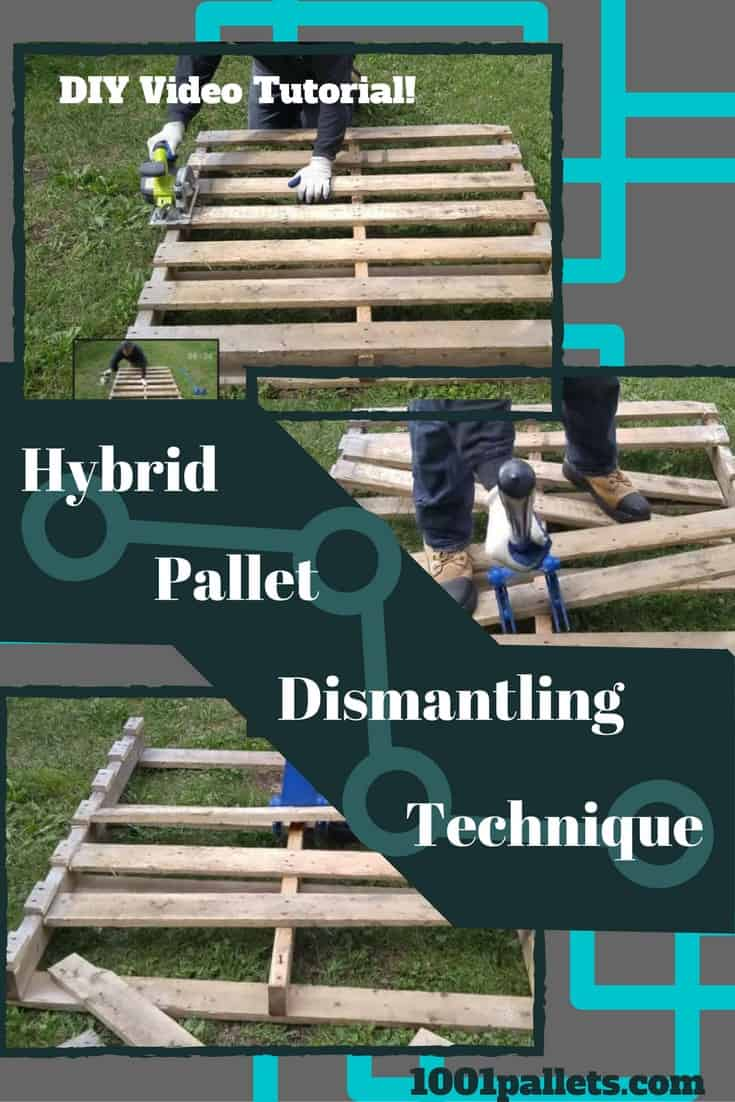 Save your back, time and wasting a lot of wood! Watch our this DIY Video Tutorial and learn the Hybrid Pallet Dismantling Technique! The faster you dismantle pallets, the faster you can start building! #palletbuster #circularsaw #awesome