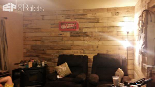 I Used Pallets For My Dining Room Accent Wall Pallet Walls & Pallet Doors
