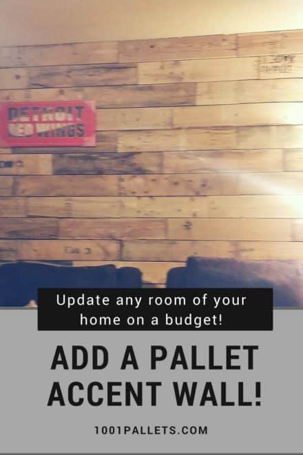 I Used Pallets For My Dining Room Accent Wall