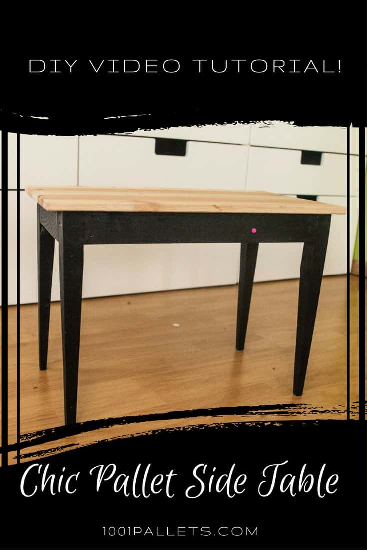 Make This Chic Pallet Side Table: DIY Video DIY Pallet Video TutorialsPallet Desks & Pallet Tables