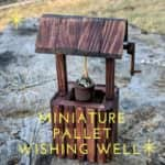 Miniature Pallet Wishing Well Is Perfect for Gnome Yard! Pallet Home Décor Ideas