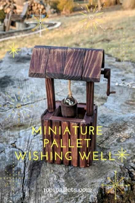 Miniature Pallet Wishing Well Is Perfect for Gnome Yard!