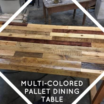 Multi-colored Pallet Dining Room Table