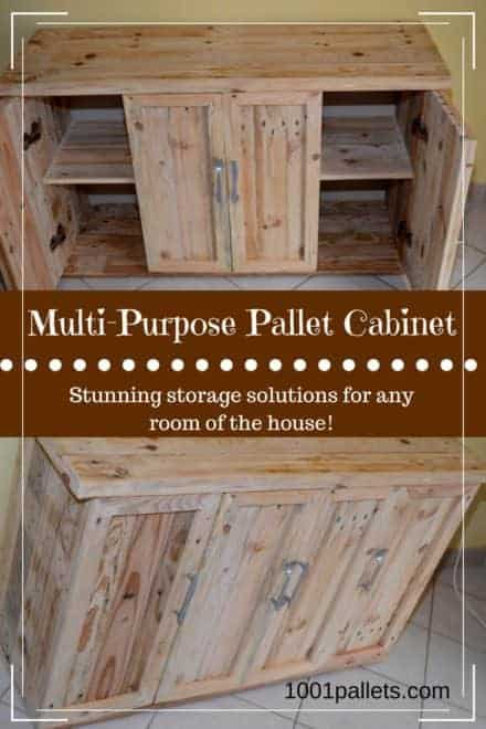 Multi-purpose Pallet Cabinet Adds Storage!