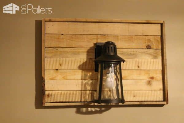 Pallet Shadow Box Wall Lamp Project Pallet Lamps & Lights Pallet Wall Decor & Pallet Painting