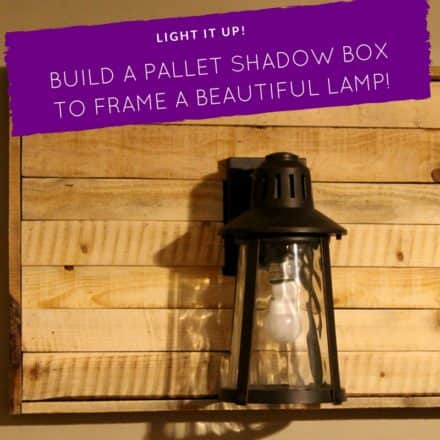 Pallet Shadow Box Wall Lamp Project