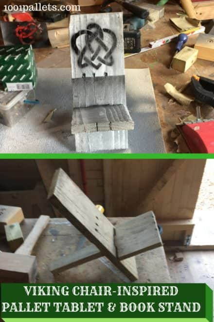 Pallet Tablet Bookstand: Inspired By Viking Chair!