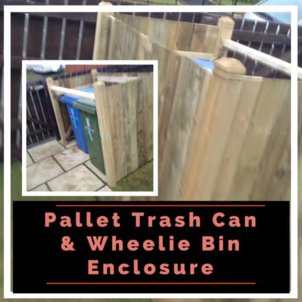 Pallet Wheelie Bin Shed Aka Garbage Can Enclosure