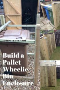 Pallet Wheelie Bin Shed Aka Garbage Can Enclosure 1001
