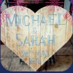 Pallet Wood Heart-shaped Wall Art: Save The Date!
