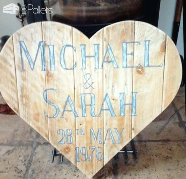 Pallet Wood Heart Shaped Wall Art Save The Date 1001 Pallets