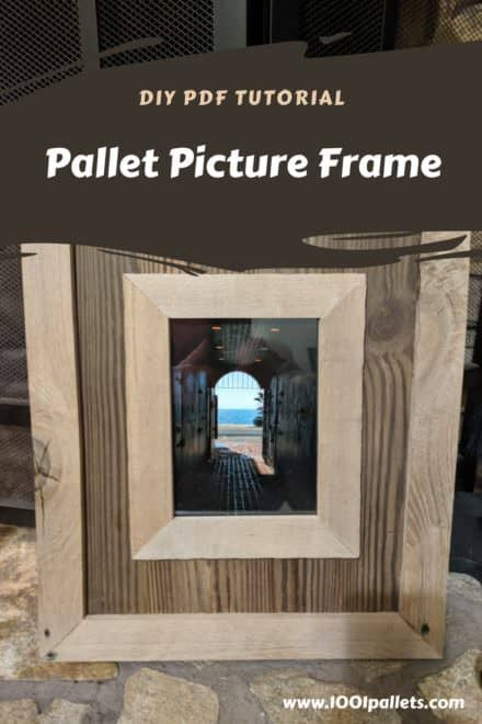 Pallet Wood Picture Frame
