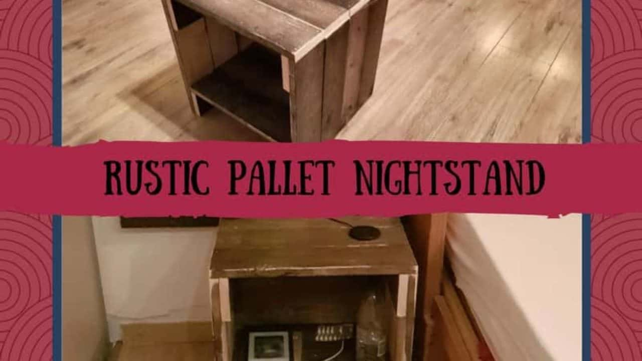Rustic Pallet Nightstand With Handy Cord Notch 1001 Pallets