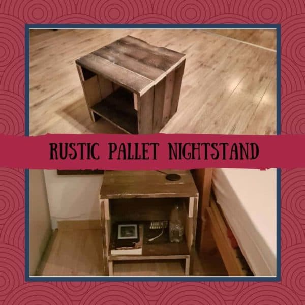 Rustic Pallet Nightstand With Handy Cord Notch