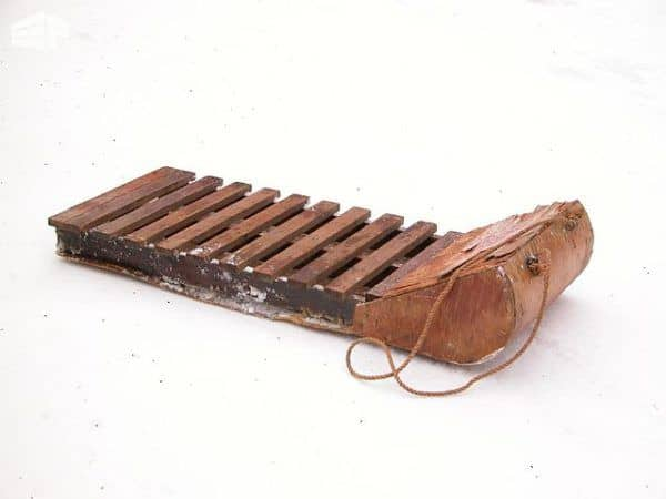 A toboggan-style version of the Pallet Sleds.