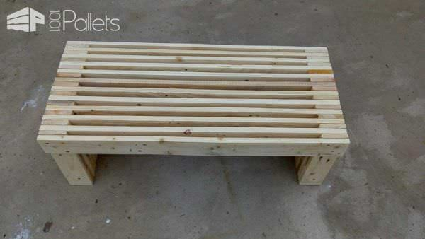 Build a Pallet Strips TV Stand, coffee table, bench or more with this technique.