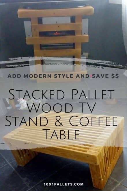 Stack 'em Up: Pallet Strips TV Stand & Coffee Table