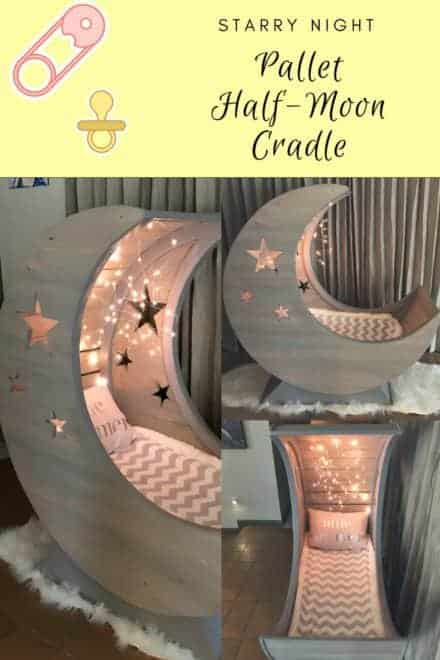 Starry Night Pallet Half-moon Cradle!