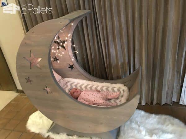 Starry Night Pallet Half-moon Cradle! • 1001 Pallets
