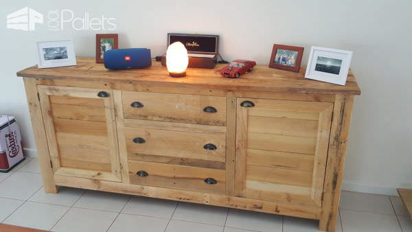 Make a pallet Rustic Buffet for all your storage needs.
