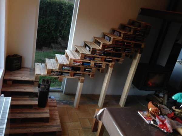Upcycle Old Wood Into Astounding Pallet Stairways Pallet Staircases