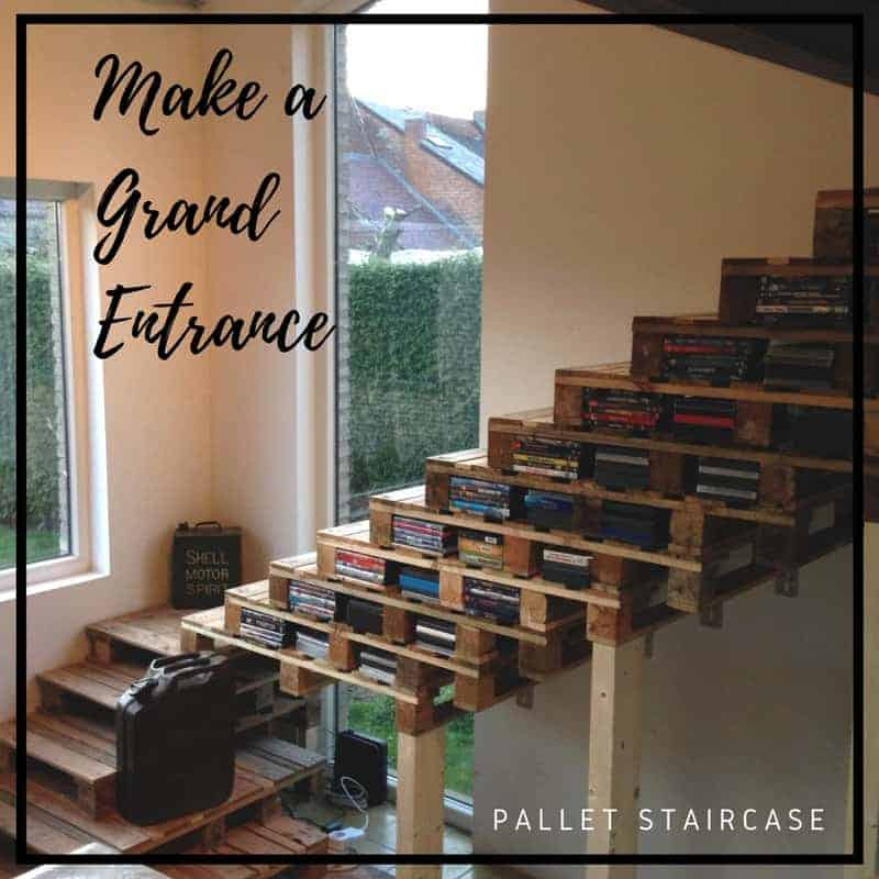 Wooden Pallet Stairs Ideas: Upcycle Old Wood Into Astounding Pallet Stairways • 1001