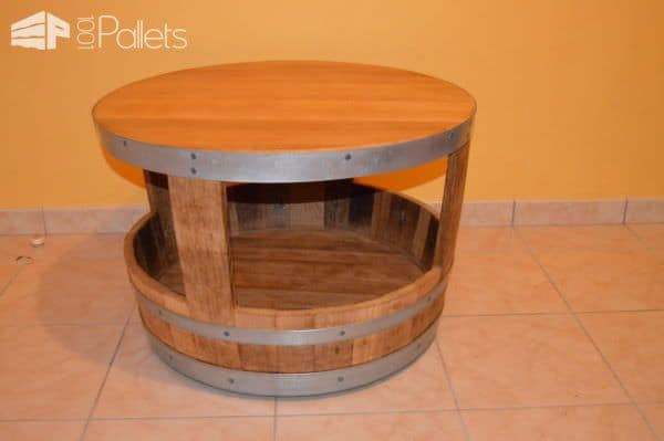 Upcycled Wine Barrel Furniture Pallet Coffee Tables