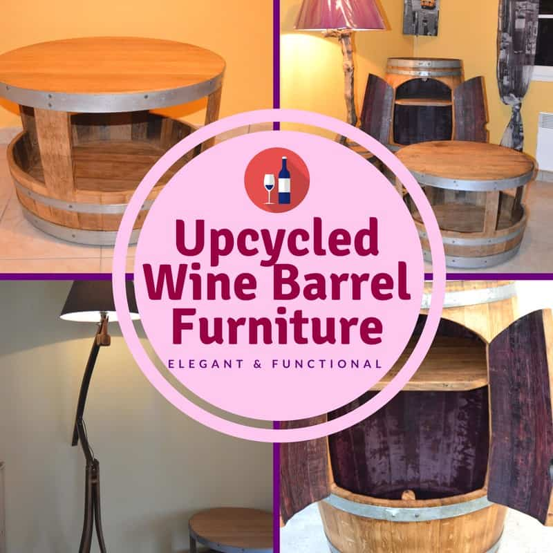 Upcycled Wine Barrel Furniture • 1001 Pallets