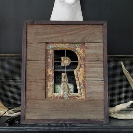 Pallet-framed Stencil Turns Metal Into Wall Art!