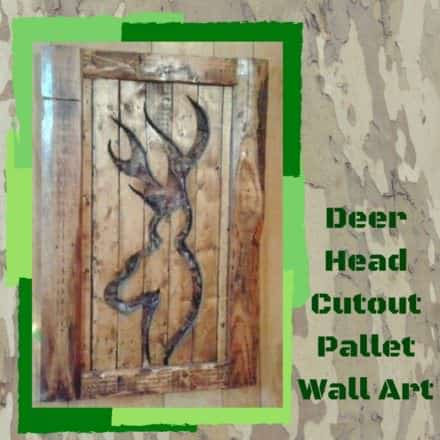 Camo-backed Deer-shaped Cutout Pallet Wall Art