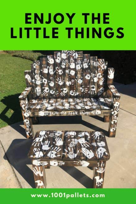 Enjoy the Little Things Pallet Bench Set