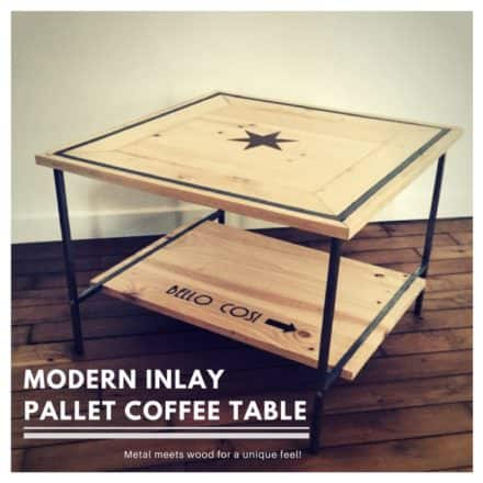 Metal-framed Pallet Inlay Coffee Table