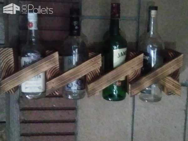 Modern Twist Wall Mount Wine Rack Made Using Pallets 1001 Pallets