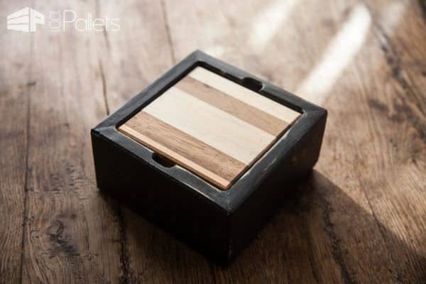 Pallet Coaster Set: Diy Video Tutorial Other Pallet Projects Pallet Home Accessories